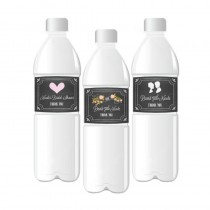 Chalkboard Wedding Personalized Water Bottle Labels