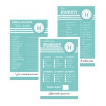 Bridal Shower Games (Set of 10) - Something Blue